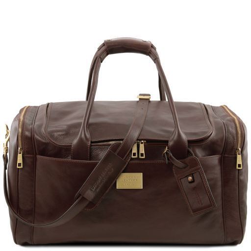 TL Voyager - Travel leather bag with side pockets - Large size_9