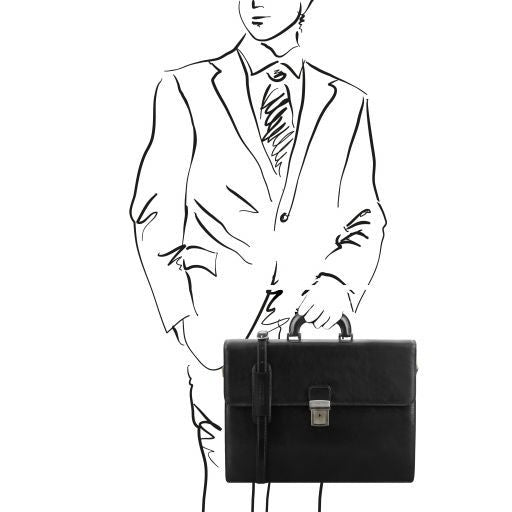 Parma Vegetable Tanned Leather Briefcase _9