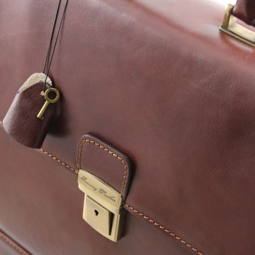 Roma Vegetable Tanned Leather Briefcase_4