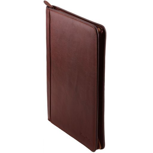 Lucio Vegetable Tanned Leather Leather Document Case with ring binder_3