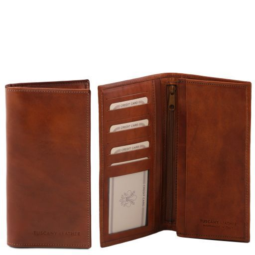 Full Grain Leather Vertical Bifold Wallet For Men_4