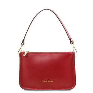 Cassandra Smooth Leather clutch handbag_1