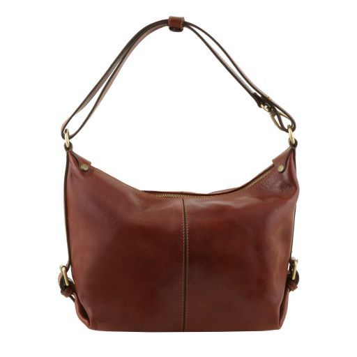 Sabrina Vegetable Tanned Leather Hobo Bag_4