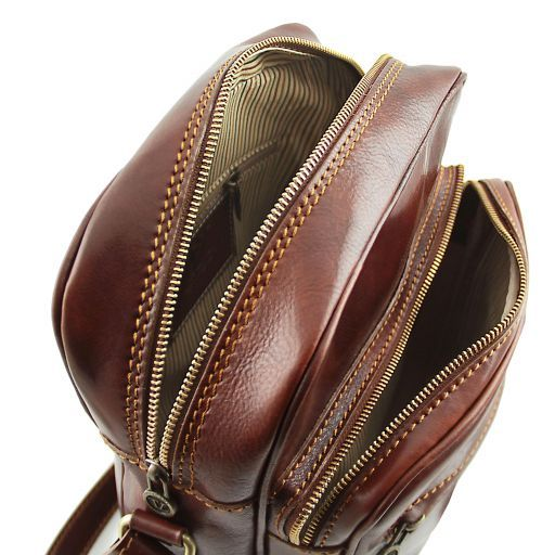 Oscar Vegetable Tanned Leather Messenger Bag for Men_4
