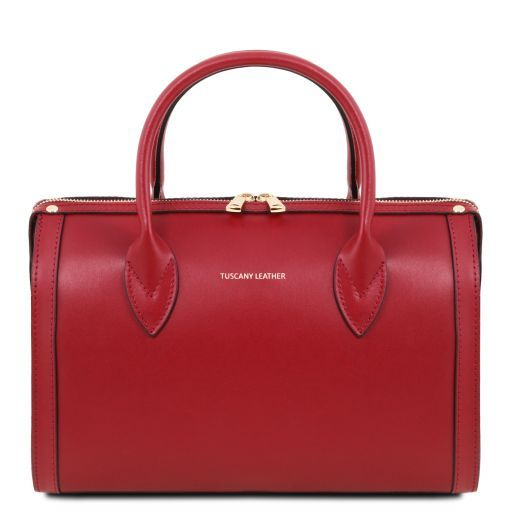 Elena Smooth Leather Boston Bag_1