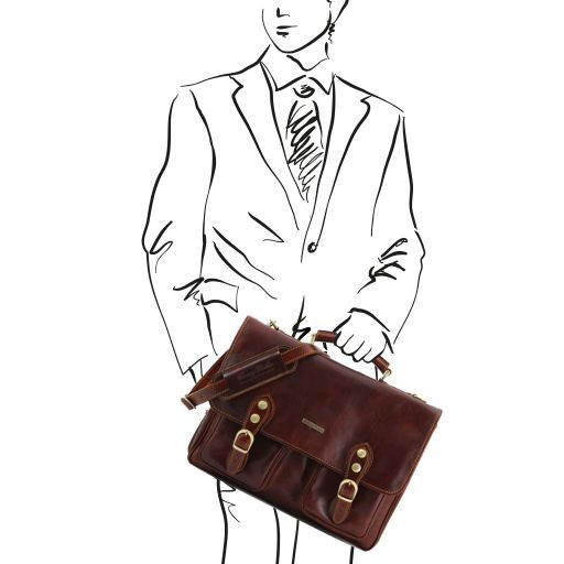 Modena Vegetable Tanned  Leather briefcase - Large size_8