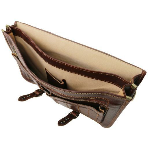 Capri Vegetable Tanned Leather Messenger Bag_7