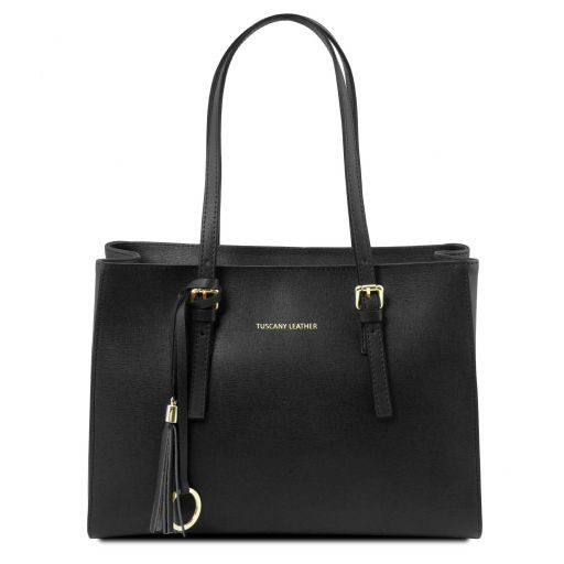 TL Saffiano Leather  Work Tote _16