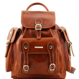 Pechino Vegetable Tanned Leather Backpack_1