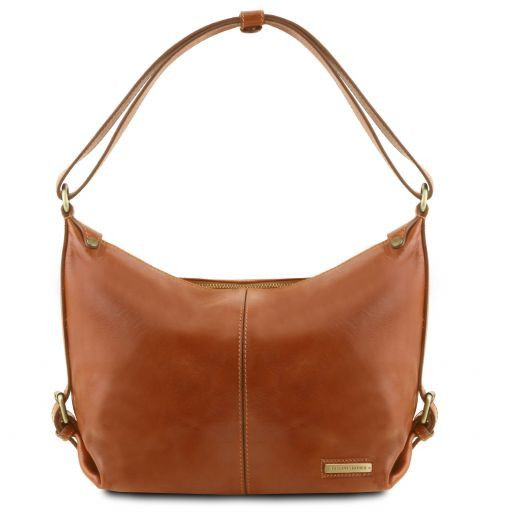 Sabrina Vegetable Tanned Leather Hobo Bag_10