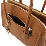 TL KeyLuck Hammered Leather Satchel _10