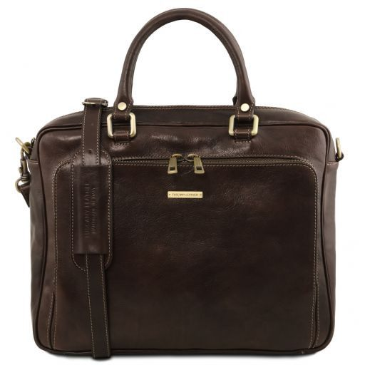 Pisa Vegetable Tanned Leather Laptop Briefcase_17