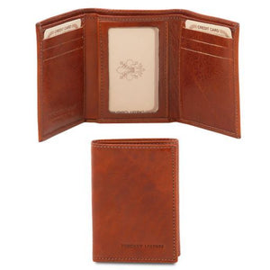 3 fold Full Grain Leather Wallet_1
