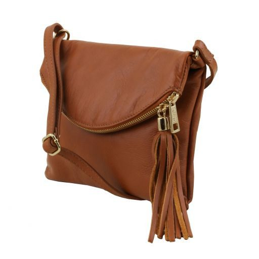 TL Young Soft Leather Shoulder Bag With Tassel_2
