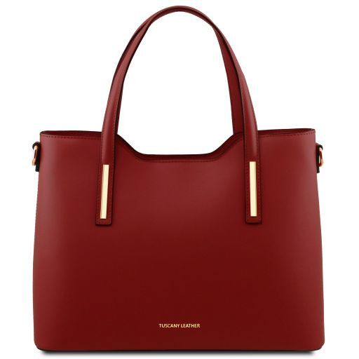 Olimpia Smooth Leather Tote (M)_15