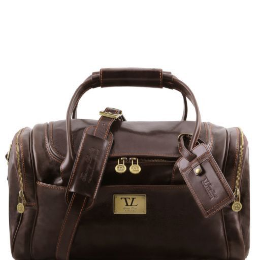 TL Voyager - Travel leather bag with side pockets - Small size_12