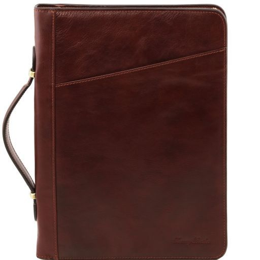 Claudio Vegetable Tanned Leather  Document Case with Handle_5