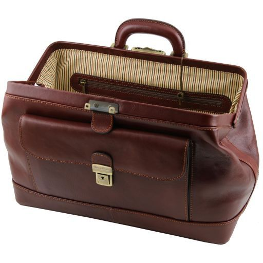 Bernini Vegetable Tanned Leather Doctor bag_5