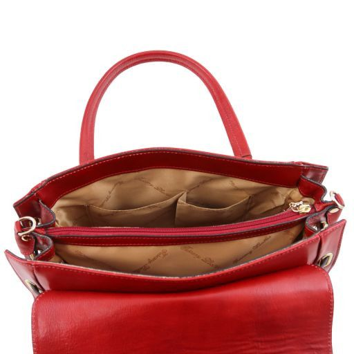 NeoClassic Full Grain Leather Satchel with twist lock_6