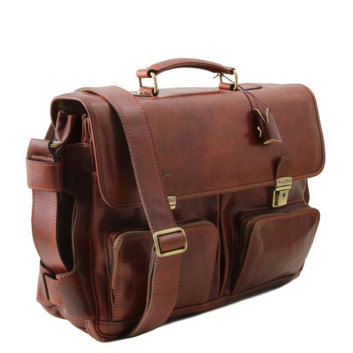Ventimiglia Vegetable Tanned Leather TL SMART Briefcase_3