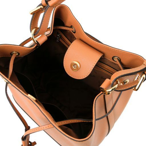 Minerva Saffiano Leather Bucket Bag_11
