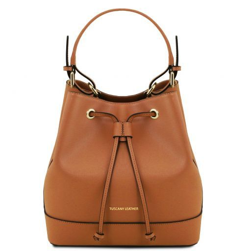 Minerva Saffiano Leather Bucket Bag_7