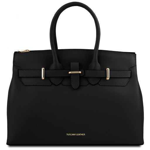 Elettra Smooth Leather Elagent Satchel_8