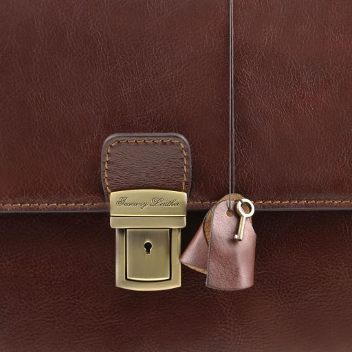 Parma Vegetable Tanned Leather Briefcase _5