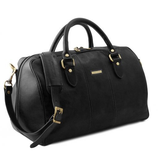 Lisbona - Travel leather duffle bag - Small size_15