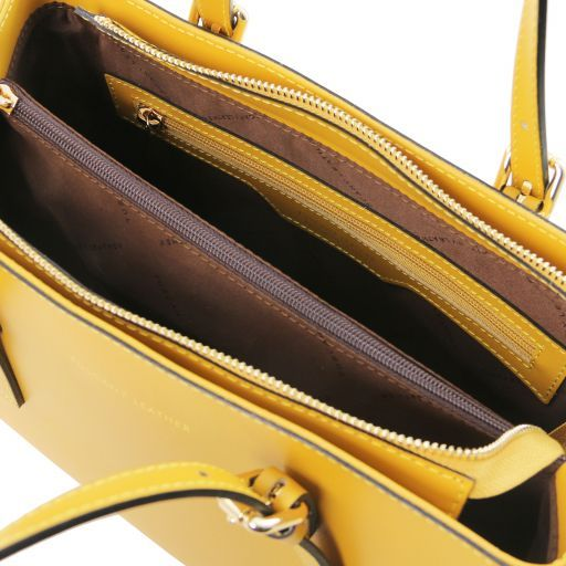 Aura Smooth Leather Satchel_8