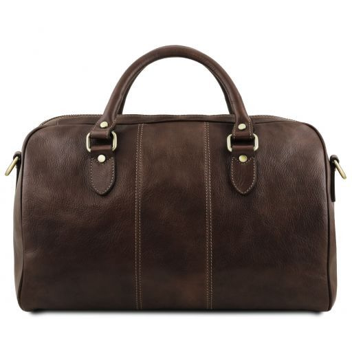 Lisbona - Travel leather duffle bag - Small size_20