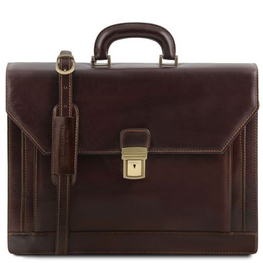 Roma Vegetable Tanned Leather Briefcase_13