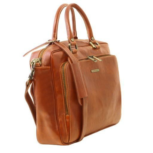 Pisa Vegetable Tanned Leather Laptop Briefcase_2