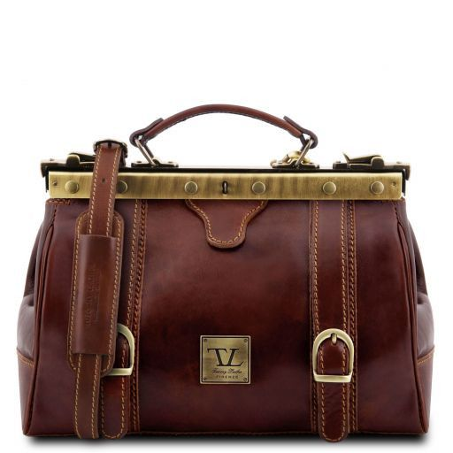 Monalisa Vegetable Tanned Leather Gladstone Doctor bag_10