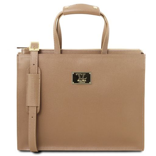 Palermo Saffiano Leather Briefcase  For Women_1