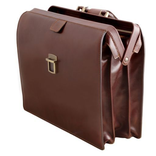 Canova Vegetable Tanned Leather Briefcase 3 compartments_3