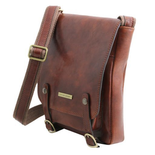 Roby Vegetable Tanned Leather Messenger Bag for Men_2