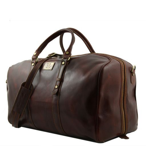 Francoforte - Exclusive Leather Weekender Travel Bag - Large size_2