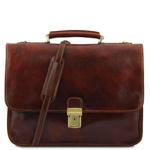 Torino Vegetable Tanned Leather Briefcase_1