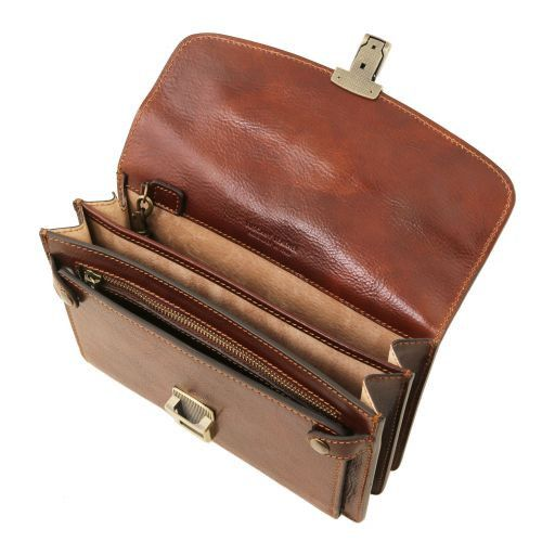 Arthur Vegetable Tanned Leather Men Clutchs Organizers Wrist Bag_5
