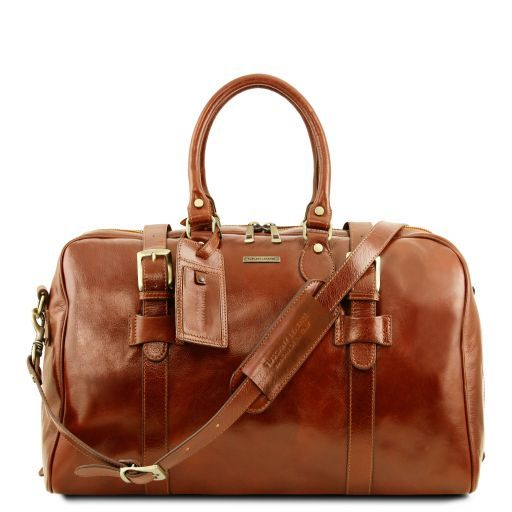 TL Voyager - Leather travel bag with front straps - Small size_11