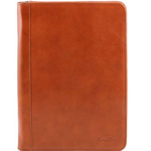 Luigi XIV Vegetable Tanned Leather Leather Document Case with zip closure_1