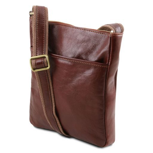 Jason Vegetable Tanned Leather Messenger Bag for Men_2