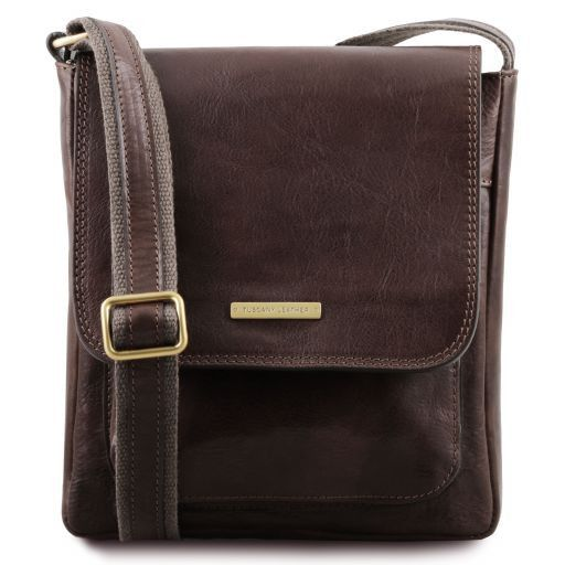 Jimmy  Vegetable Tanned Leather Messenger Bag for Men_1