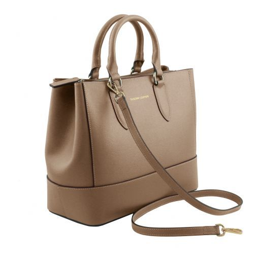 TL Saffiano Leather Satchel _16