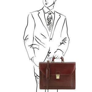 Napoli Vegetable Tanned Leather Briefcase_2