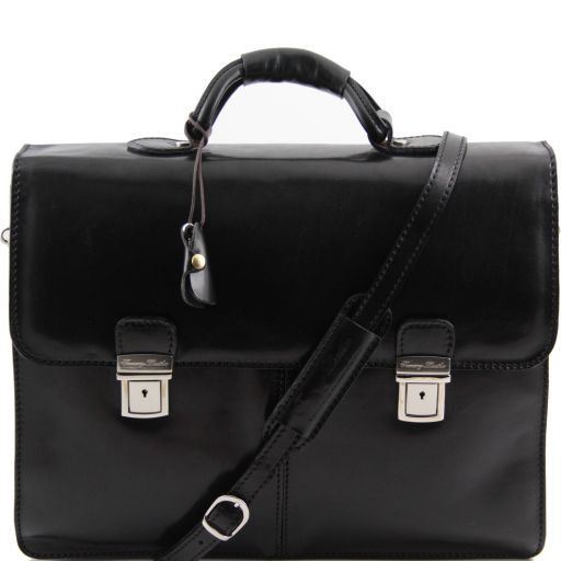 Bolgheri Vegetable Tanned Leather Briefcase_1