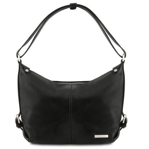 Sabrina Vegetable Tanned Leather Hobo Bag_12