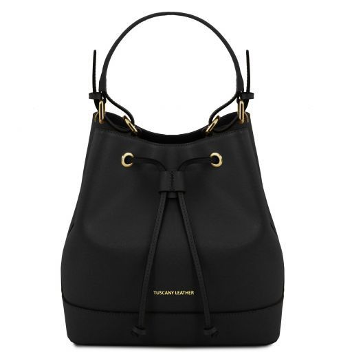 Minerva Saffiano Leather Bucket Bag_13