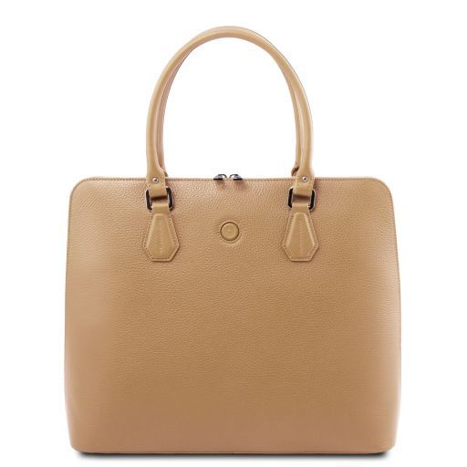 Magnolia Hammered Leather Women Business Bag _1